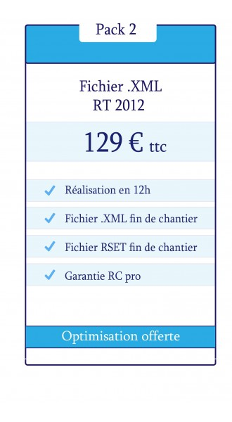 Pack Fichier XML RT 2012